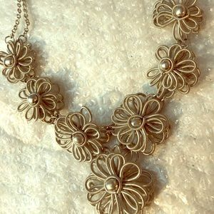 Statement necklace.   Custom wire like necklace.